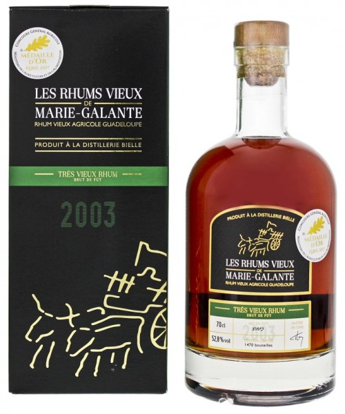 Les Rhum Vieux de Marie Galante Bielle Tres 2003 Agricole Rhum 0,7 Liter 52,8%