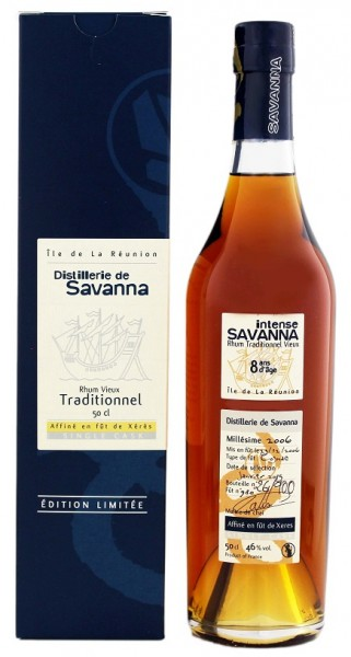 Savanna 8YO Vieux Traditionnel 2006/2015 Xeres Finish Rhum 0,5 Liter 46%
