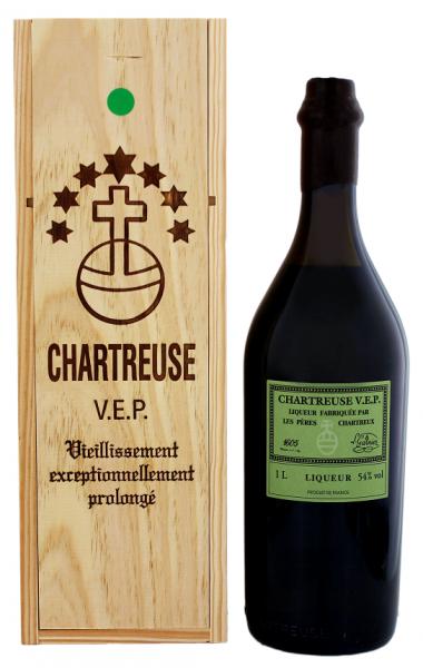 Chartreuse V.E.P. Verte 1 Liter 54%