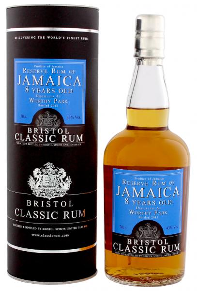 Bristol Reserve Rum of Jamaica Worthy Park 8YO 0,7 Liter 43%