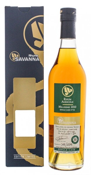 Savanna 8YO 2010/2019 Vieux Agricole Single Cask Rhum (Cognac Wood) 0,5 Liter 48,1%