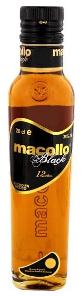 Macollo Black 12YO Rum 0,2 Liter 38%