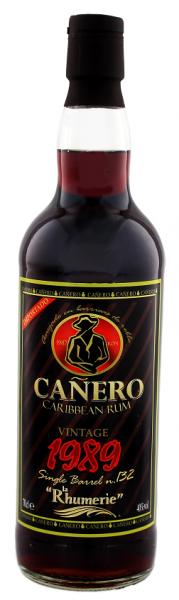 Canero 1989 Vintage Single Cask Rum 0,7 Liter 40%