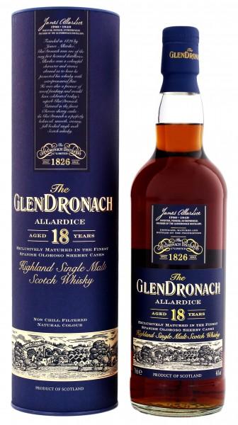 Glendronach 18YO Allardice Single Malt Scotch Whisky 0,7 Liter 46%