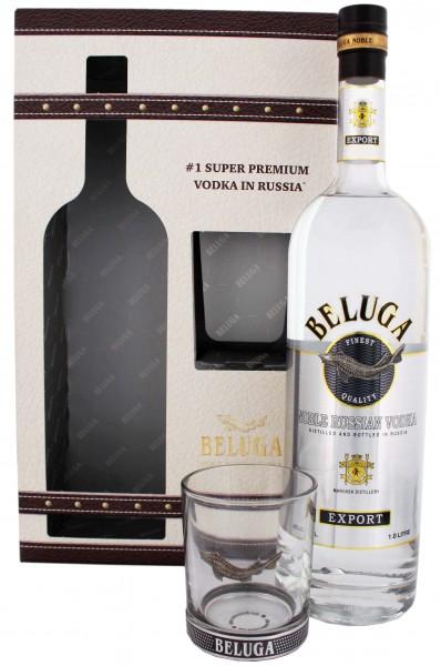 Beluga Vodka mit Glas 1 Liter