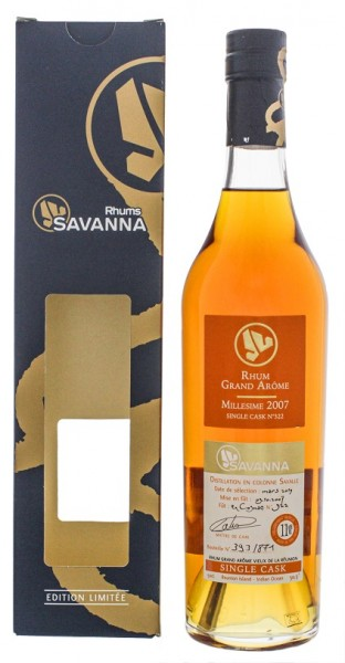 Savanna 11YO 2007/2019 Grand Arome Single Cask Rhum (Cognac Wood) 0,5 Liter 50,3%