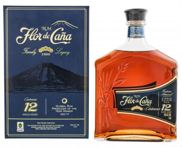 Flor de Cana 12YO Rum 1 Liter 40%