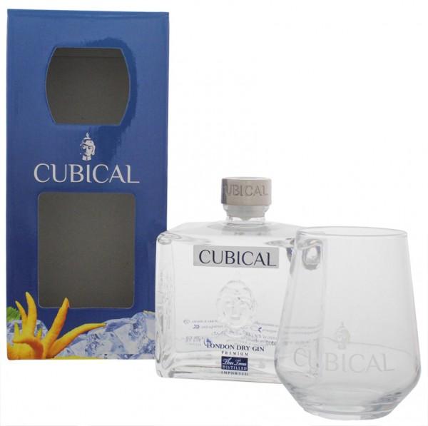 Cubical Premium London Dry Gin + Glas 0,7 Liter 40% (ehemals Botanic)