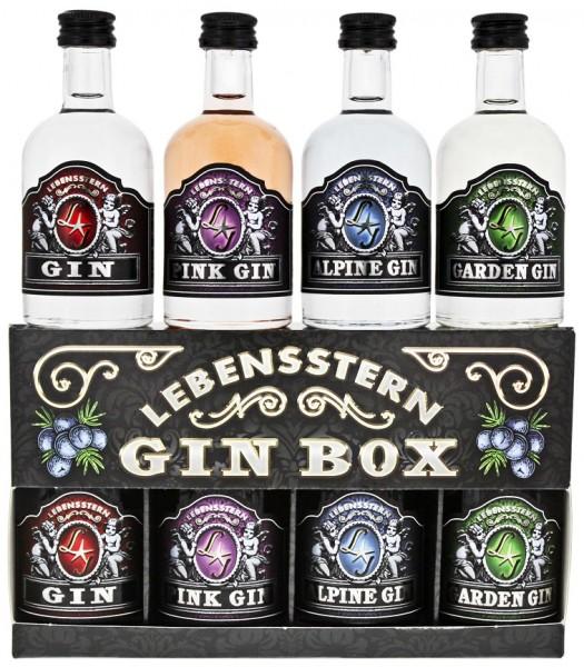 Lebensstern Gin Box (Dry/Pink/Garden/Alpine) 0,2 Liter 43%