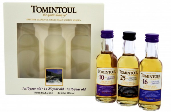 Tomintoul Triple Pack 0,15 Liter 40%