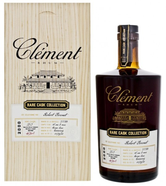 Clement Rhum Vieux Rare Cask Collection 2000 Matured 16YO und 8 Monate 0,5 Liter 55,3%