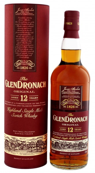 Glendronach 12YO Single Malt Scotch Whisky 0,7 Liter 43%