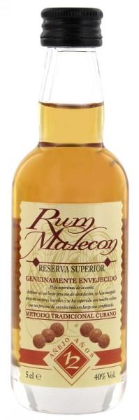Malecon 12YO Reserva Superior Rum 0,05 Liter 40%