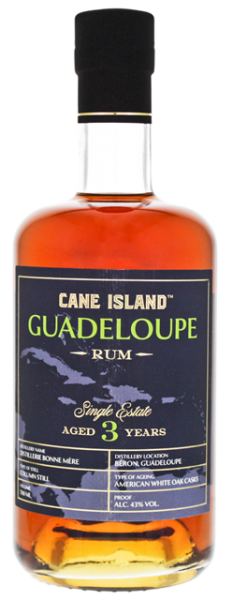 Cane Island Guadeloupe 3YO Single Estate Rum 0,7 Liter 43%