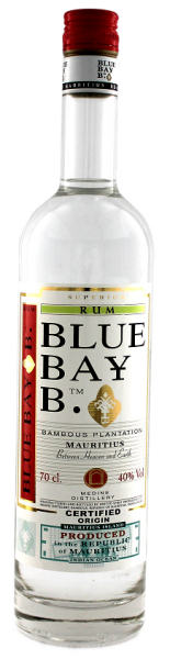 Blue Bay B. Superior White Rum 0,7 Liter 40%