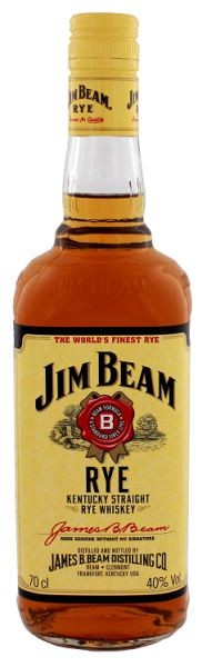 Jim Beam Straight Rye Whiskey 0,7 Liter 40%