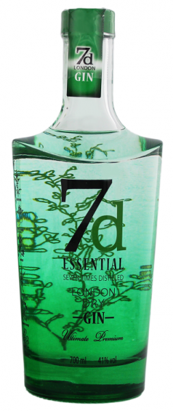 7d Essential London Dry Gin 0,7 Liter 41%
