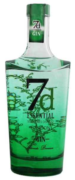 7d Essential London Dry Gin 0,7 Liter 41%