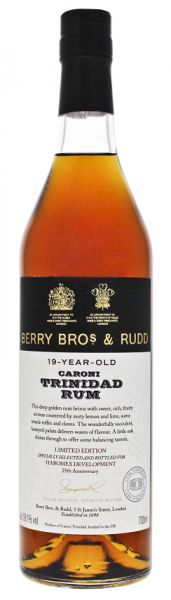 Berry Bros & Rudd Caroni Trinidad 19YO Cask Strength  Rum 0,7 Liter 59,10%