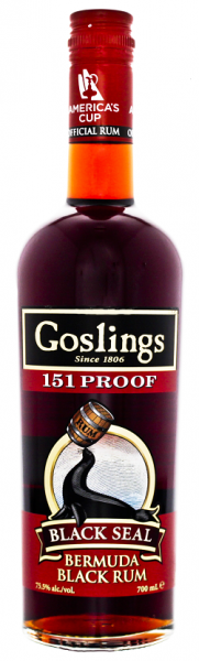 Gosling's Black Seal 151 Overproof Rum 0,7 Liter 75,5%