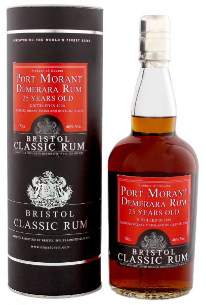 Bristol Port Rum Morant Guyana 25YO 1990/2015 Oloroso Sherry Finish 0,7 Liter 46%