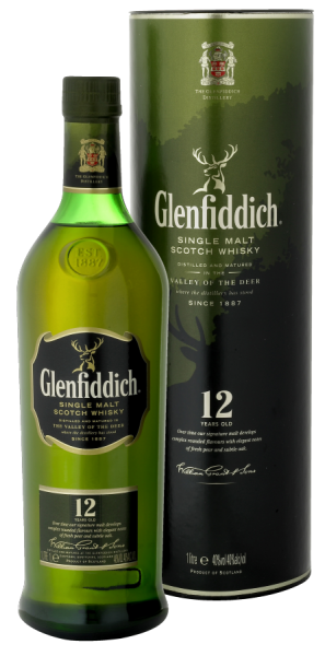Glenfiddich 12YO Whisky 1 Liter 43%