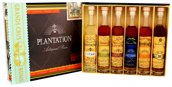 Plantation rum Cigar Box 6 x 0,1 Liter