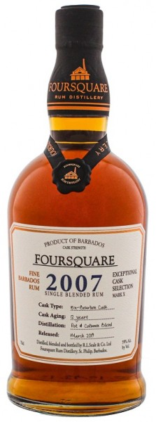 Foursquare 2007 Cask Strength Rum 0,7 Liter 59%