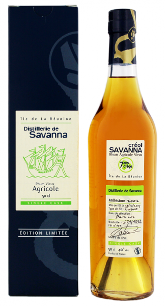 Savanna 7YO Single Cask Agricole Rhum 0,5 Liter 46%