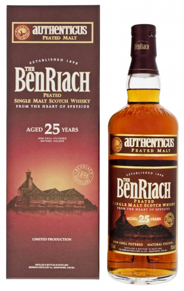 BenRiach 25YO Authenticus Peated Malt Whisky 0,7 Liter 46%