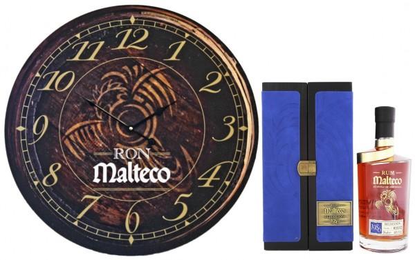 Malteco Selección 1986 Rum 0,7 Liter 40% inkl. Wanduhr