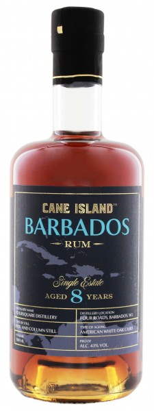 Cane Island Barbados 8YO Single Estate Rum 0,7 Liter 43%