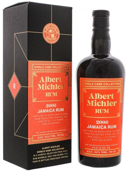 Albert Michler Jamaica 2006/2020 Single Cask Collection Rum 0,7 Liter 51%
