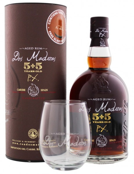 Dos Maderas PX 5YO + 5YO Rum + Glas 0,7 Liter 40%
