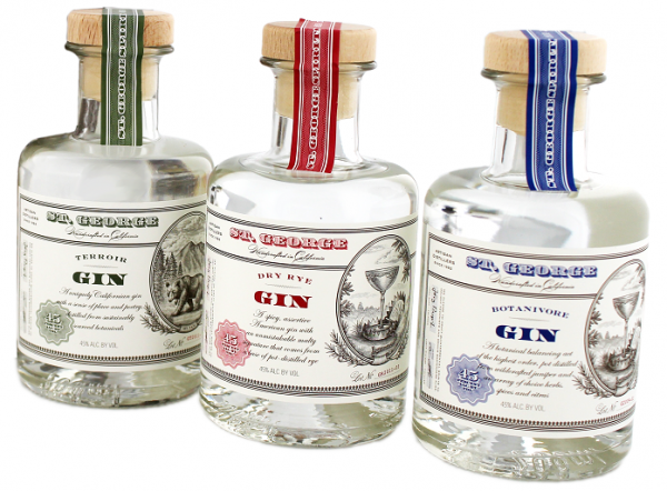 St. George Combo Gin Set 45% 3 x 0,2 Liter