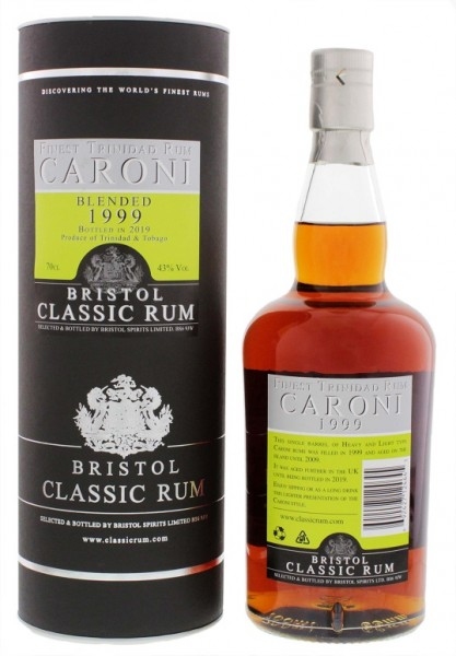 Bristol Caroni 1999/2019 Trinidad Rum 0,7 Liter 43%