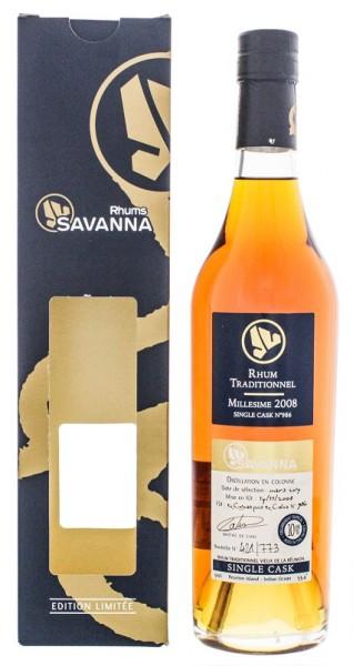 Savanna 10YO 2008/2019 Vieux Traditionnel Single Cask Rhum (Cognac/Port Wood) 0,5 Liter 53,4%