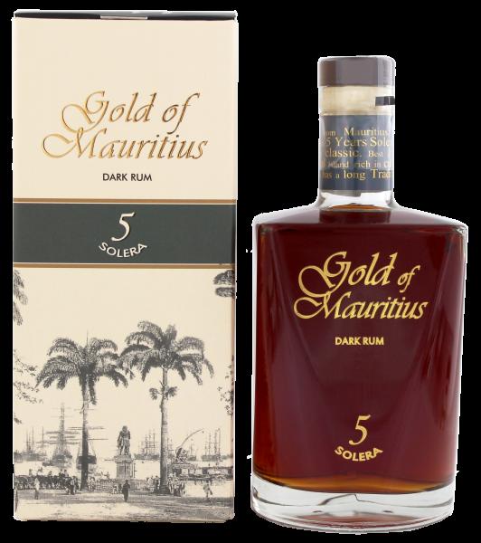 Gold of Mauritius Dark Rum Solera 5 0,7 Liter 40%