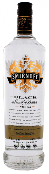 Smirnoff No.55 Black Vodka 1 Liter 40%