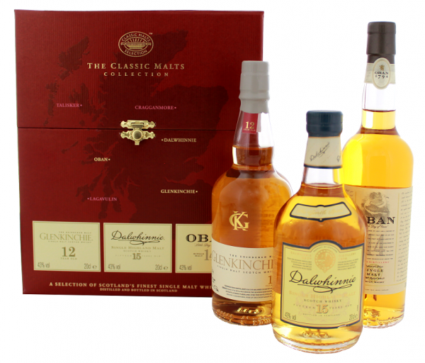 The Classic Malts Gentle Collection 3 x 0,2 Liter 43%