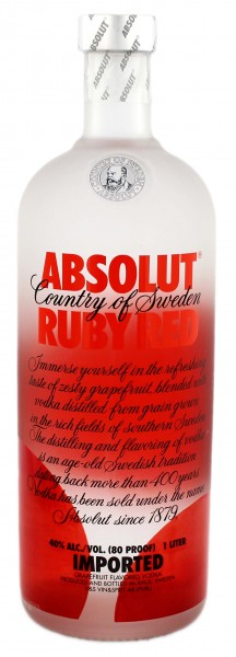 Absolut Vodka Ruby Red Schweden 1,0L