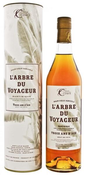 Chantal Comte L´Arbre du Voyageur Brut De Futs Trois Ans d´Age Agricole Rhum 0,7 Liter 53,5%