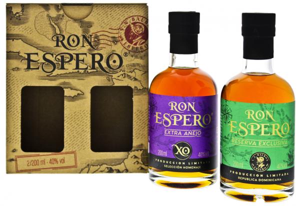 Espero Reserva Exclusiva Rum + XO Rum im Set 2 x 0,2 Liter 40%