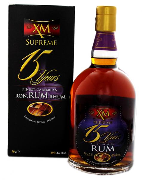 XM 15YO Supreme Rum 0,7 Liter 40%
