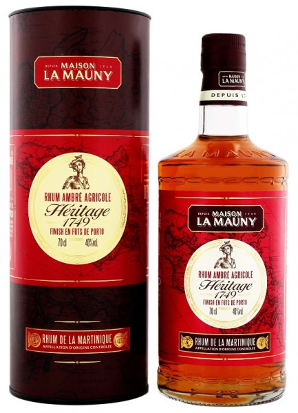 La Mauny Ambre Heritage 1749 0,7 Liter 40%