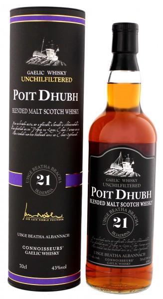 Poit Dhubh 21YO Blended Malt Scotch Whisky 0,7 Liter 43%