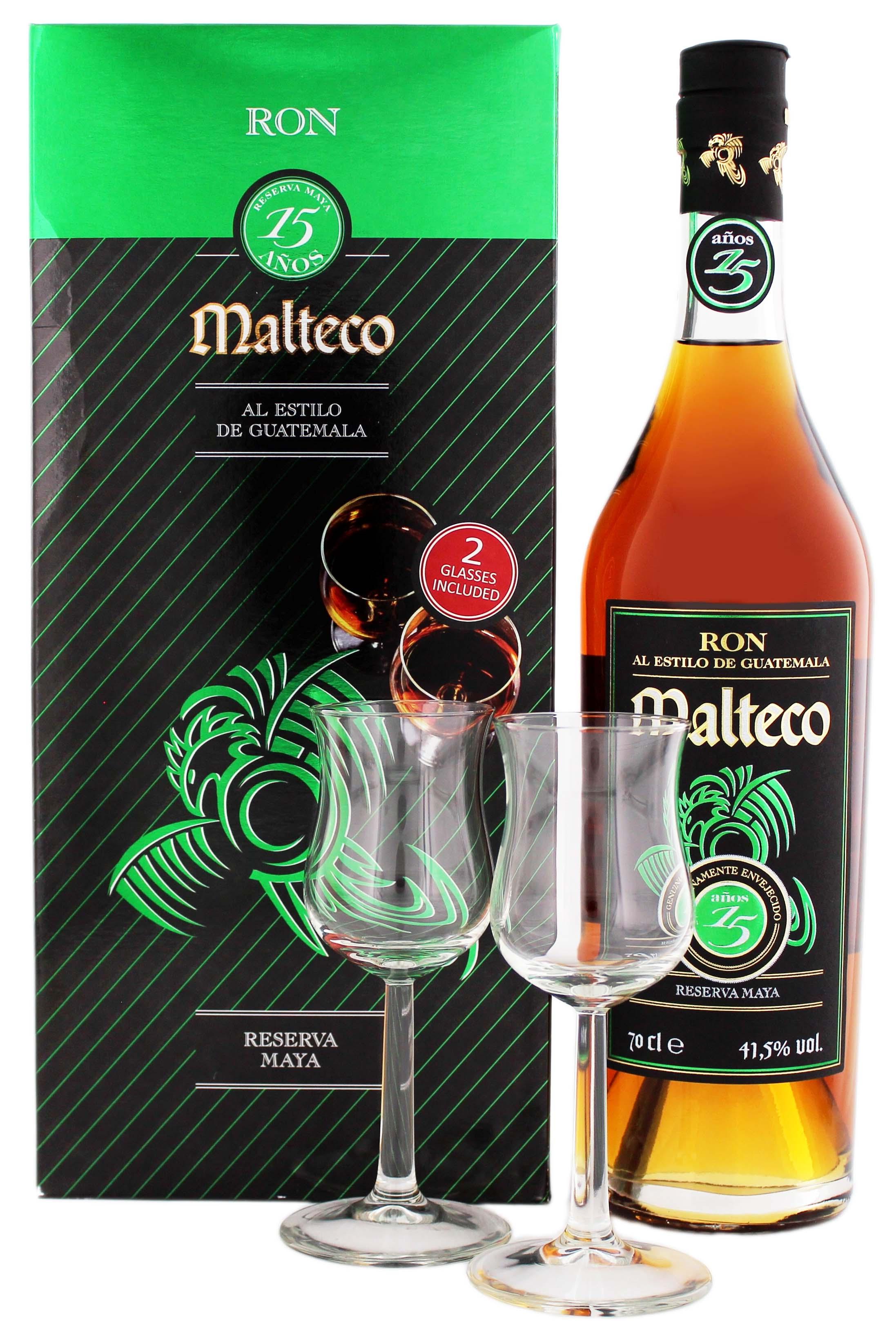 malteco 15yo rum incl 2 gl ser online kaufen. Black Bedroom Furniture Sets. Home Design Ideas