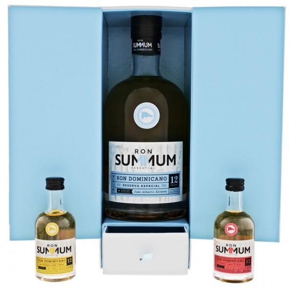 Summum 12YO Reserva Especial Rum Set inkl. 2 Miniaturen 0,8 Liter 38%