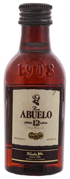 Abuelo 12YO Rum 0,05 Liter 40%