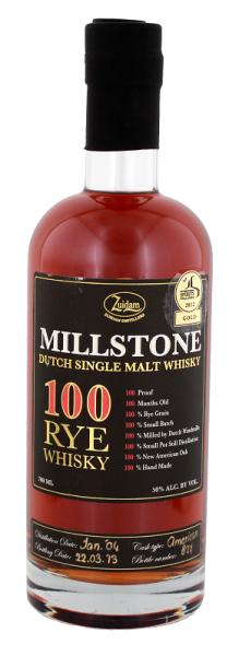 Zuidam Millstone 100 Rye Whisky 0,7 Liter 50%
